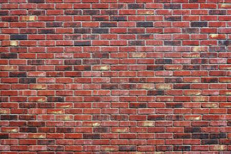 Rode bakstenen muur als achtergrond textuur