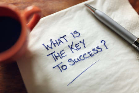 What is the key to success inspirational business concept Stock Photo