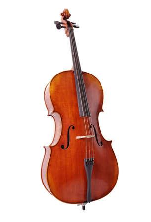 violoncello: Violoncello isolato su sfondo bianco per la musica, lezioni e concetti di educazione