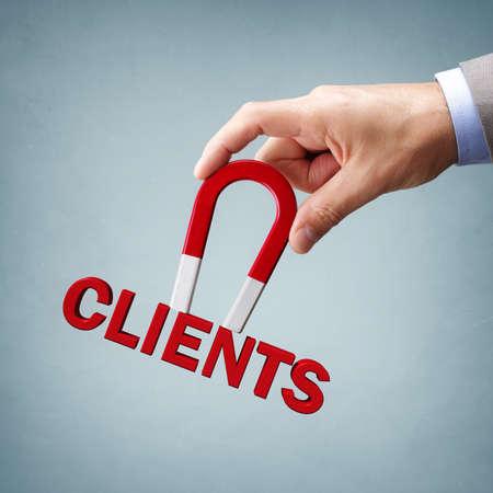 Magnes przyciąga nowych klientów biznesowych i klientów Zdjęcie Seryjne