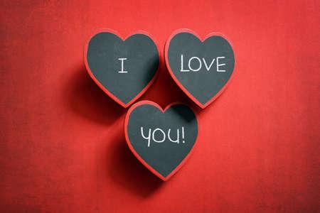我爱你,在黑板上签名情人节留言