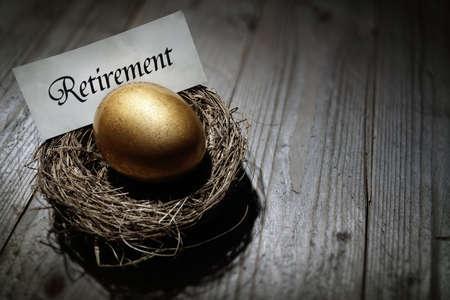 nestegg: Golden nest egg concept for retirement savings Stock Photo