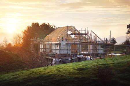 Domů ve výstavbě na staveništi