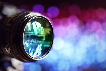 Digitalkamera Objektiv mit Kopie Raum Lizenzfreie Bilder