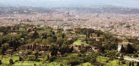 Florenz in der Toskana, Italien Panoramablick aus dem Norden der Stadt