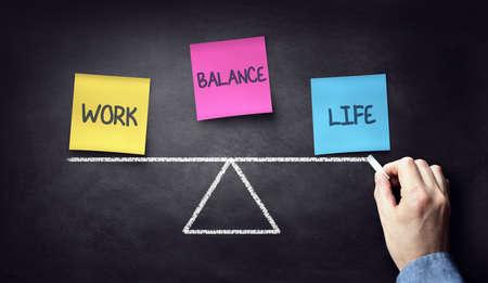 Work life balance business and family choice Standard-Bild