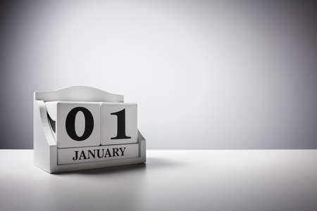 New year concept January 1st calendar background Stock Photo
