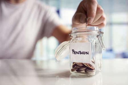Retirement saving and pension planning Standard-Bild