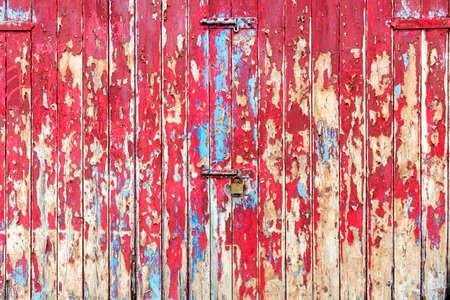 Old wooden garage door or gate textured background