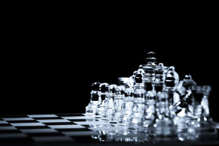 Business strategy and competition concept chess board ready for battle background