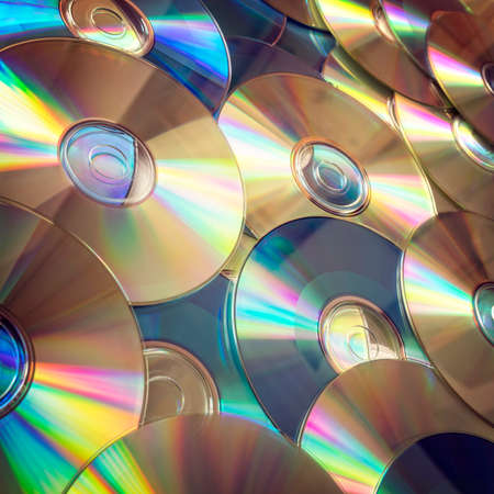 Optical discs or CD compact disc computer data background
