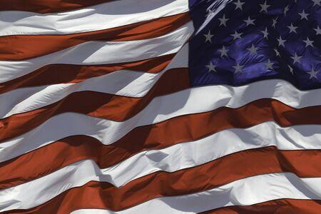 US flag fluttering in the wind Фото со стока