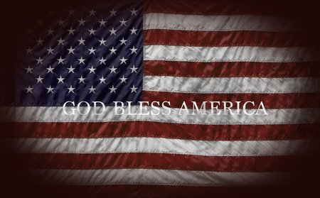 God Bless America and US Flag Imagens