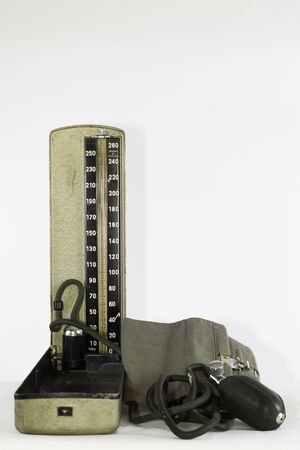 Old Blood Pressure Gauge on a white back ground Reklamní fotografie