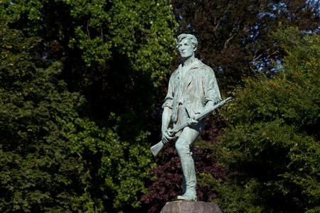 Minuteman Statue at Lexington, Masachusetts.US