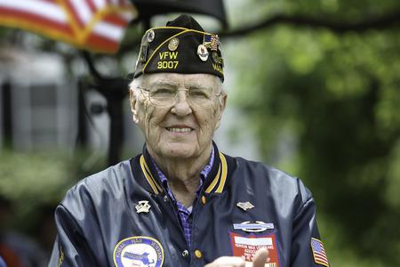A Veteran at Holiday Ceremony  Imagens