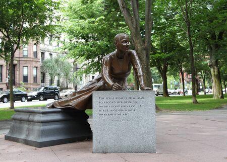 Lucy Stone Statue on the Commonwealth Avenue, Boston Editorial
