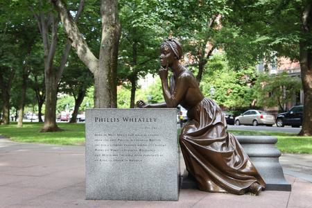 Phillis Wheatley Statue on the Commonwealth Avenue, Boston
