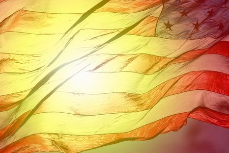 American Flag Fluttering in the Air Stock fotó