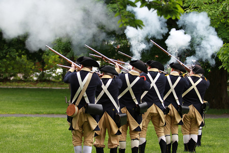 Memorial Day Ceremony in Lexington, Massachusetts, USA Editorial