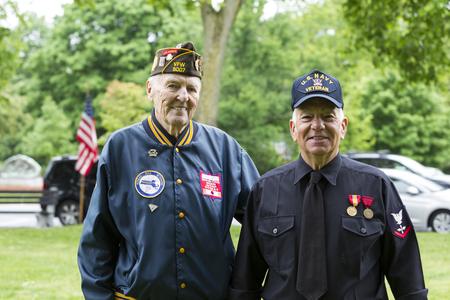 Korean Veteran and Navy Veteran Memorial Day ceremony