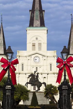 Jackson Statue at Jackson Square, New Orleans, USA Stock Photo