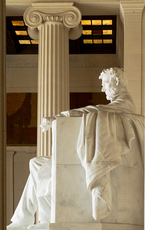 Lincoln Monument, Washington, D.C., USA Banco de Imagens
