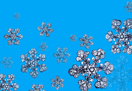 Snowflakes falling in the winter Stok Fotoğraf