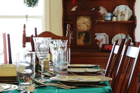 Christmas Family Dinner Table in Dinning Room
