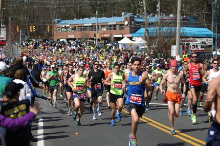 118th Boston Marathon took place in Boston, Massachusetts, on Monday, April 21 (Patriots' Day) 2014. Disabled Runners and  Support Spectators