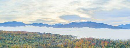 Autumn Morning in New England Mountain
