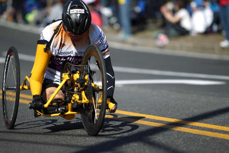 118th Boston Marathon took place in Boston, Massachusetts, on Monday, April 21 (Patriots' Day) 2014. Disabled Wheelchair Rider Editöryel
