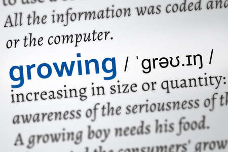 growing dictionary word