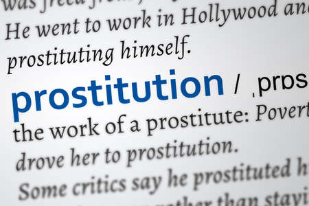 prostitution word definition Фото со стока