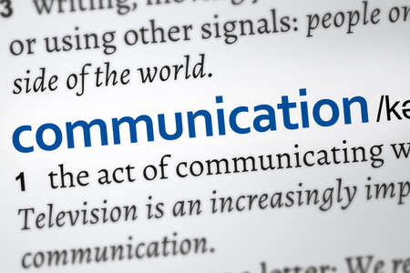 communication definition word. Zoom on the meaning