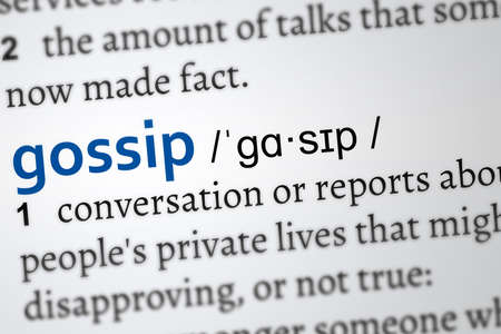 gossip word, definition of the word Banque d'images