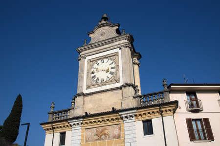 Clock Town Gate. The Clock Gate in Sal? (Garda Lake - Italy) Imagens