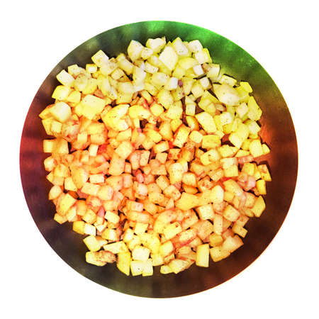 unreal food, colored potatoes strange effect