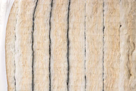 glass wool insulation, panels of insulating material Фото со стока