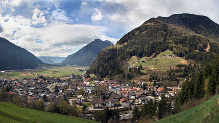 Sand in Taufers. Panoramic view of Campo Tures, a market town in South Tyrol in northern Italy