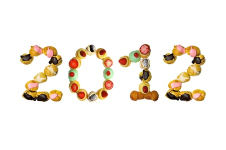 2012 pastry from italy Stock Photo