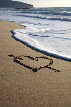 valentine s day beach: Valentine Stock Photo