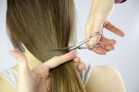 Cutting very long hair