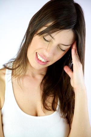 Female model with really bad headache Stock Photo - 13133632