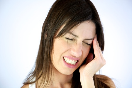 Gorgeous model with very strong headache Stock Photo - 13133631