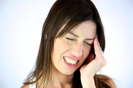 hoofdpijn: Prachtige model met zeer sterke hoofdpijn