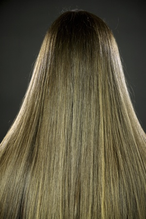 Amazing long silky straight brunette hair photo