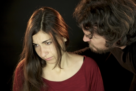 Woman attached by scary man Stock Photo - 13757356