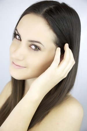 Gorgeous young woman smiling photo