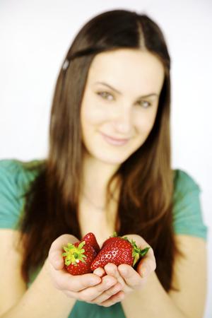 nice big red fresh strawberries seasonal photo